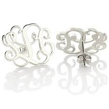 monogramed jewelry wholesale monogram stud earrings personalized monogram earrings