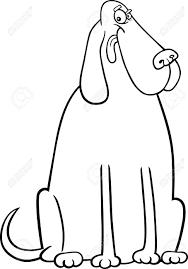 coloring page of a big dog cartoon illustration of funny big dog for coloring book or coloring