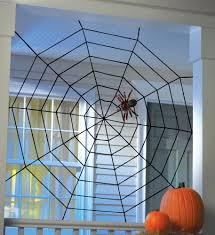 Spider Web Halloween Decoration 5 U0027 Black Widow Spider Web Halloween