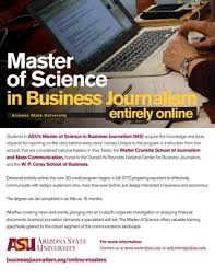 online journalism master s degree master of science in business journalism by walter cronkite