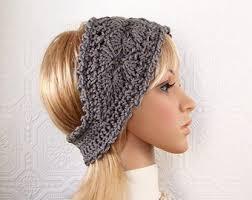 crochet headband crochet headband boho wrap ear warmer medium gray