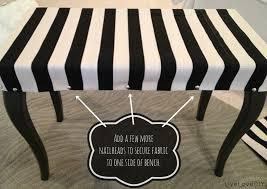 livelovediy diy striped upholstered bench livelovediy