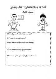 english teaching worksheets children s day