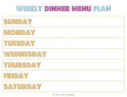 weekly menu template tryprodermagenix org