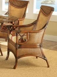 rattan wicker arm chair foter