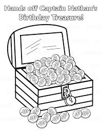 unique treasure chest coloring page 60 for free colouring pages