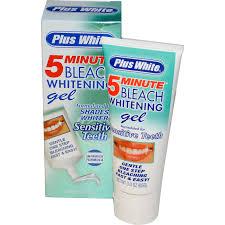 plus white 5 minute bleach whitening gel for sensitive teeth 3 0