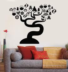 Asian Zen Decor by Vinyl Wall Decal Zen Tree Asian Decor Oriental Meditation Room