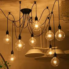 retro chandeliers iegeek fuloon 10 lights creative fairy vintage edison lamp shade
