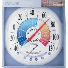 Patio Thermometer by Large Dial Outdoor Weather Tracking Ace Hardware