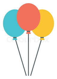 party balloons colourful birthday or party balloons vector flat design