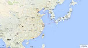 East China Sea Map by Hollyhock Sloop British Warships Of World War 1