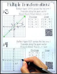 hs geometry transformations workbook translations rotations