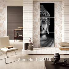 Buddha Room Decor Free Shipping 3 Panel Modern Buddha Print Painting Picture On