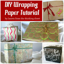 diy wrapping paper tutorial the thinking closet sugar bee crafts