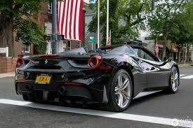 gold and black ferrari ferrari 488 spider 6 july 2016 autogespot