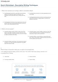 descriptive writing worksheet free worksheets library download