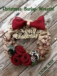 burlap christmas wreath and the pauper christmas burlap wreath