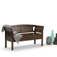 Bench For Entryway With Storage Simpli Home Brooklyn Dark Coffee Storage Bench 3axcbroben The