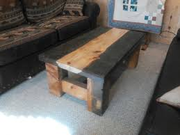 Build Wood Slab Coffee Table by Living Room Backwoods Rustic Home Furnishings