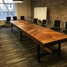 Reclaimed Wood Executive Desk Tables Wonderful Wood Chevron Conference Table Extraordinary Wood