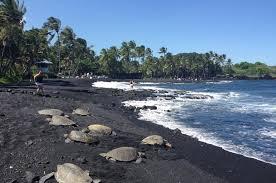 black sand beach big island big island circle small group tour waterfalls hilo volcano