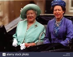 Queen Mother And Princess Margaret Trooping The Colour 1998 In