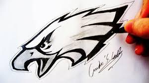 como desenhar a logo philadelphia eagles how to draw