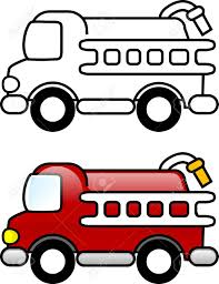 fire truck printable coloring page for children or you can