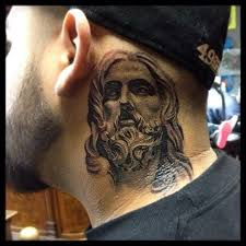 27 jesus neck tattoos