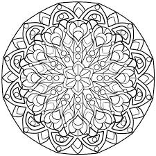 complex mandala coloring pages funycoloring