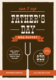 father u0027s day bbq buffet promotional template