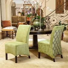 Printed Dining Chairs Avery Sage Green Printed Fabric Dining Chairs Set Of 2 Great