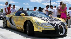 gold bugatti bugatti veyron covered in gold edition at gumball rally on hd