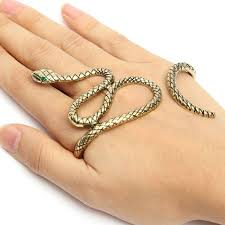 crystal snake bracelet images Punk snake crystal eyes hand animal palm bracelet bangle jpg