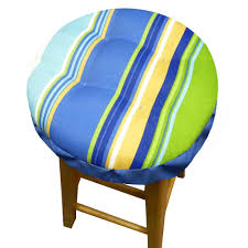 westport blue bar stool cover with latex foam cushion and