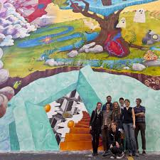 how to turn anything into something else mural arts philadelphia the miss rockaway armada artist team photo by steve weinik