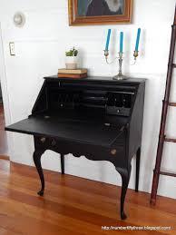 Secretary Desk Black by Number Fifty Three Traditional Secretary Desk