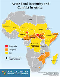 African Countries Map Acute Food Insecurity And Conflict In Africa U2013 Africa Center For