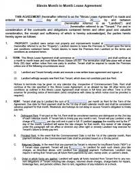 free illinois month to month lease agreement pdf word doc