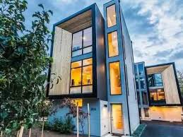 townhome designs modern home design genesee townhome created with illusion of