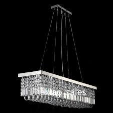 Christal Chandelier Modern Rectangular Chandelier Dining Room Length