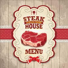 Home Design Vector Free Download Vintage Steak House Poster Design Vector Vector Cover Vector