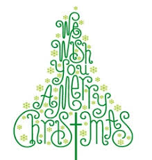 we wish you a merry calligraphy vector image