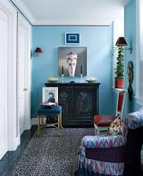 Leopard Armchair A Charming Blue Living Room Idea With Cute Ethnique Armchair And