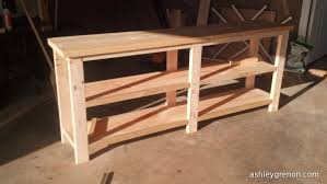 ana white console table diy rustic x console plans by ana white handmade with ashley