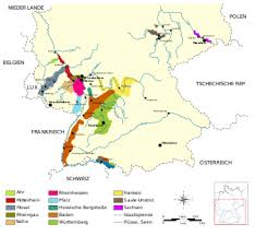 map of regions of germany list of german wine regions