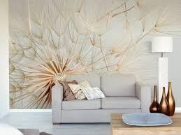 living room mural white flowers living room wall murals decor homes rooms