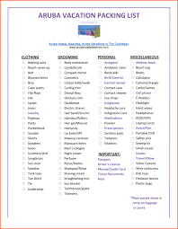 vacation list template best template u0026 design images