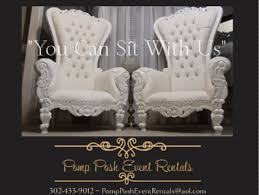 pomp posh event rentals throne chairs king and queen chairs